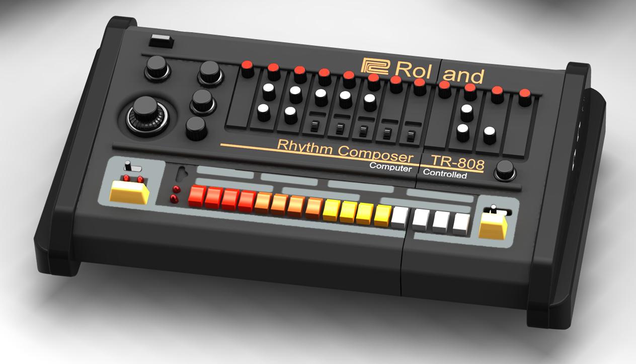 roland drum machine 808