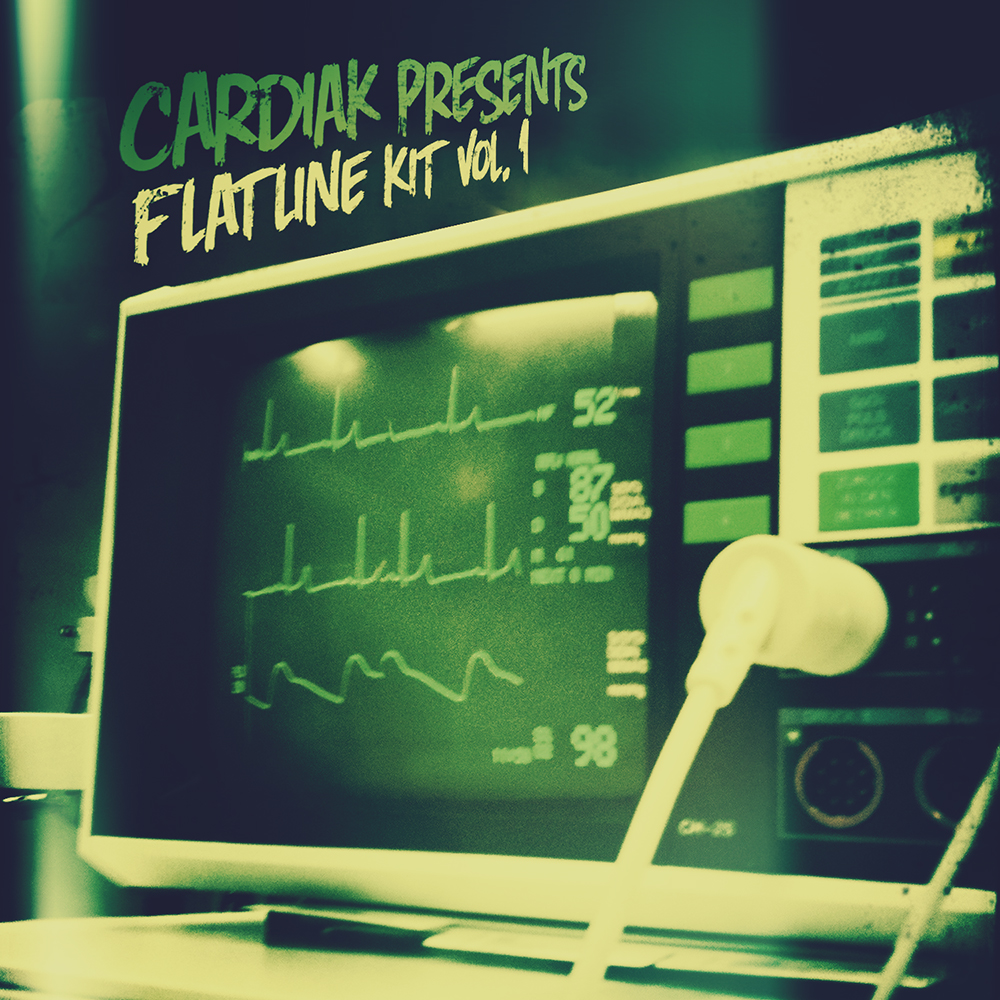 Cardiak FlatlineKit Cardiak Presents Flatline Drumkit Vol. 1