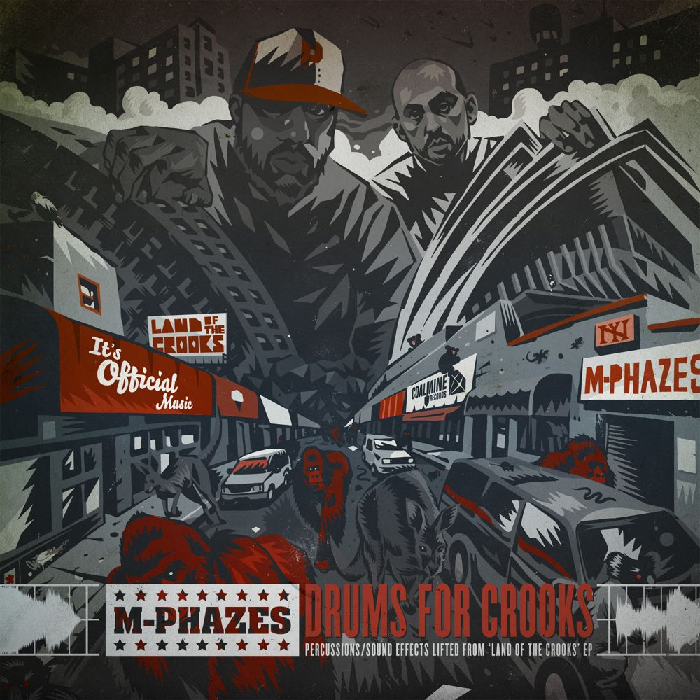 DrumsForCrooks 1000 M Phazes x Sean Price   Land of the Crooks EP & Drum Kit